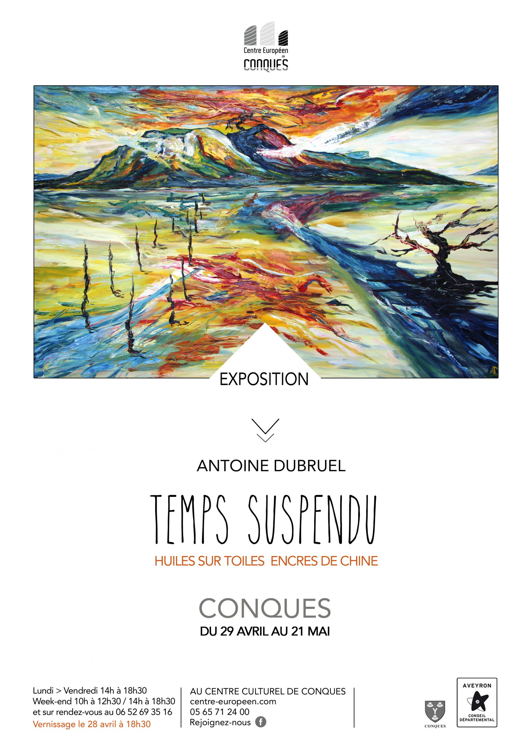 Affiche centre d'art europeen conques 2